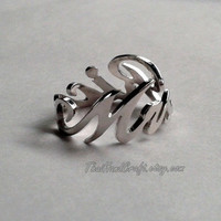 "Script Wrap Name Ring, Personalized with ANY NAME. ""Free Shipping"""