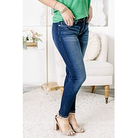 Through It All Mid Rise Super Skinny Jeans