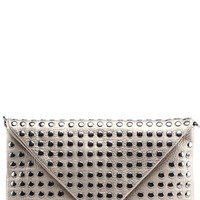 2440 Pewter Studded Snap Button Envelope Clutch and shop Handbags at MakeMeChic.com