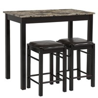 Best Choice Products 3 PC Dining Table Set Includes Table and 2 Stools - Walmart.com