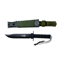 "14.25"" Survival Knife w/ Survival Kit & Sheath"