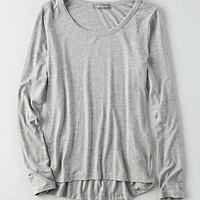 Don't Ask Why Long-Sleeve Everyday T-Shirt, Stone Gray