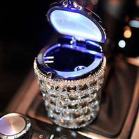 Car Holder Cigar Portable Ashtray Blue LED Light