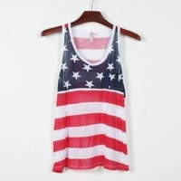 American Flag Print Tank Top   Eco-friendly Items In Summer