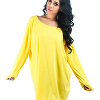 Yellow Plus Size Lyss Loo Oversized Tunic Dress