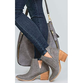 Tarim Not Rated Snakeskin Ankle Boots