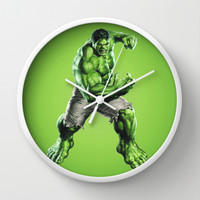 HULK Wall Clock by Hands In The Sky