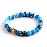 Onyx Unisex Natural Stone Beaded Yoga Bracelet - Multiple Colors!