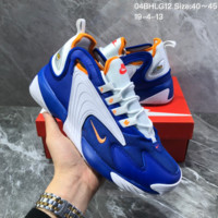 HCXXXX N1378 Nike Zoom Winflo 2000 Mesh Leather Fashion Causal Running Shoes blue White Orange