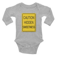 Caution Sweetness Infant long sleeve one-piece