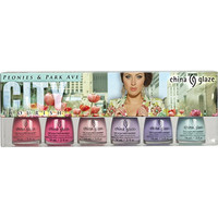 "Online Only City Flourish ""Peonies & Park Ave"" 6pc Nail Set"
