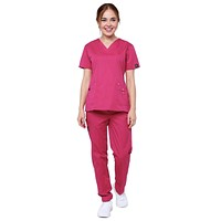 Women's 11 Pocket Stretch Slim Fit Uniform Scrubs
