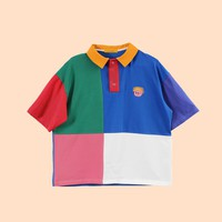 Damooshu City Boy Rainbow Polo Shirt