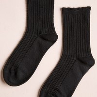 BLACK BRAIDED SOCKS