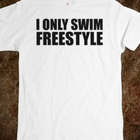 Funny Anime-Inspired 'I Only Swim Freestyle' T-Shirt