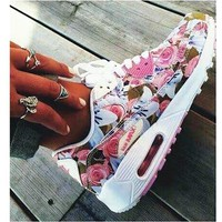 NIKE AIR MAX Sakura Low tops shoes force sports shoes urple floral print