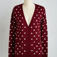 60s Mid-length Long Sleeve Collect Your Spots Cardigan