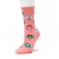 Women's Ugly Holiday Sweater Crew Socks