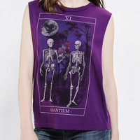 Truly Madly Deeply Skeleton Love Muscle Tee - Urban Outfitters