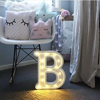 LED Night Light Alphabet Letters