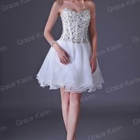 GK Sweetheart Mini Party Short Dress Homecoming Bridesmaid Cocktail Prom Gowns W