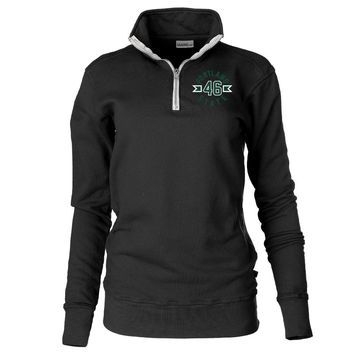 Official NCAA Portland State University Vikings - 19POR03 Unisex 1/4 Zip Up Fleece Pullover