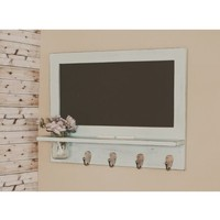 Furniture :: Entry & Hall :: Shelving and Message Boards :: Country Cottage Chalkboard with Shelf and Mason Jar - Available with a Shabby Chic Distressed or Solid Finish