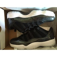 2017 Mens and Women Retro 11 Low Barons 11S Black Basketball Shoes Out Door Sports Sneakers for Men Size US5.5-13 Euro 47