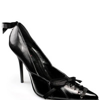 Pointed Toe Corset Laced Pump with 4.5 Inch Heel < Sexy Shoes   Flirt Catalog
