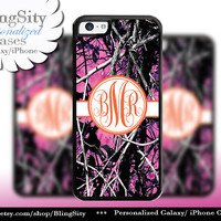 Camo Orange Monogram iPhone 5C 6 Plus Case iPhone 5s 4 case Ipod muddy Realtree Personalized Cover Country Inspired Girl