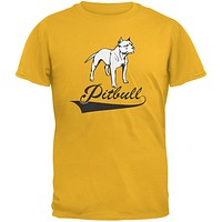 Pit Bull Gold Adult T-Shirt