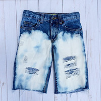 PAXTON bermuda Shorts~Jeans Shorts~ Unisex distressed denim shorts~Ripped shorts~Distressed Denim shorts~Baby~Toddler~Trendy Kids~Hipster