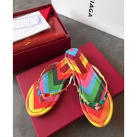 Valentino Fashion Rainbow Sandal Slipper
