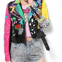 Pop Art Moto Jacket WOW