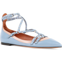 Lovelatch leather pointed-toe flats