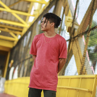 Red Keys Elongated Mineral Wash T Shirt
