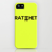Ratchet Typography iPhone & iPod Case by productoslocos