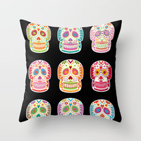 Day of the dead Throw Pillow by Polkip | Society6