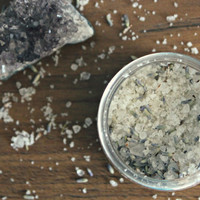 SACRED MOON . Bath Salt Soak. Luxury Bath - Vegan Lavender Vanilla Dead Sea Salt Soak. Spa & Relaxation Gift // Sacred Moon