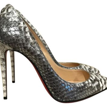 Christian Louboutin - Pigalle Follies (Snake Python with Blue Accent)