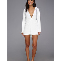 Splendid Signature Terry Hooded Tunic Cover-Up White - 6pm.com