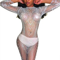 Dipped in Glitter Mesh Gown