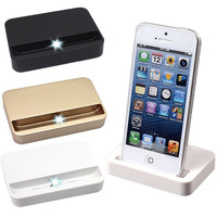 For iPhone 6 Plus 6s 6splus SE 5 5S 5c iPod Portable Data Sync USB Cradle Charger Dock Charging Dock Station Holder Stand