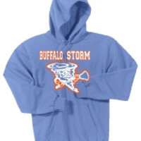 Buffalo Storm Port & Company Mens Classic Pullover Hooded Sweatshirt.