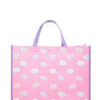 Macaroon Cat Print Tote Bag