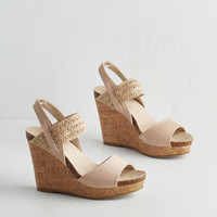 ModCloth Good Cruise of Your Time Sandal in Beige