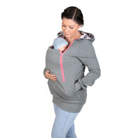 2016 5 colors Fashion Style 3 in One Maternity Pregnancy Pregnant Woman Hoodies Carry Baby Sweatshirt Mom Zipper Coat