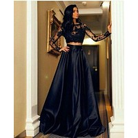 2pcs Sexy Women Formal Prom Long Dress Evening Party Cocktail Long Maxi Dress