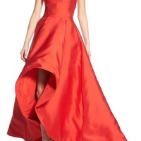 Mac Duggal Strapless High/Low Gown | Nordstrom