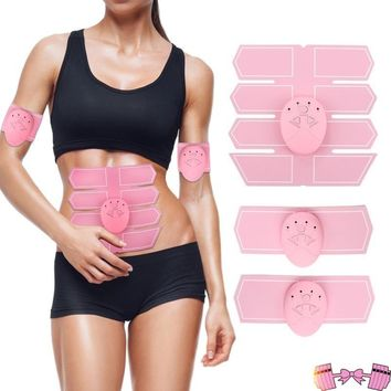 Pink EMS Abdominal Muscle 6 Pack/Oblique Trainer